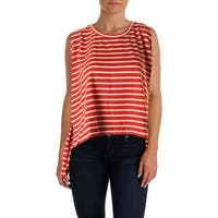 Free People Womens Pullover Top Striped Hi-Low