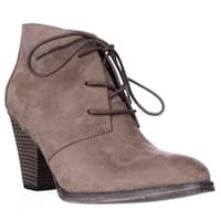 MIA Shawna Lace Up Ankle Booties, Taupe - 6 US