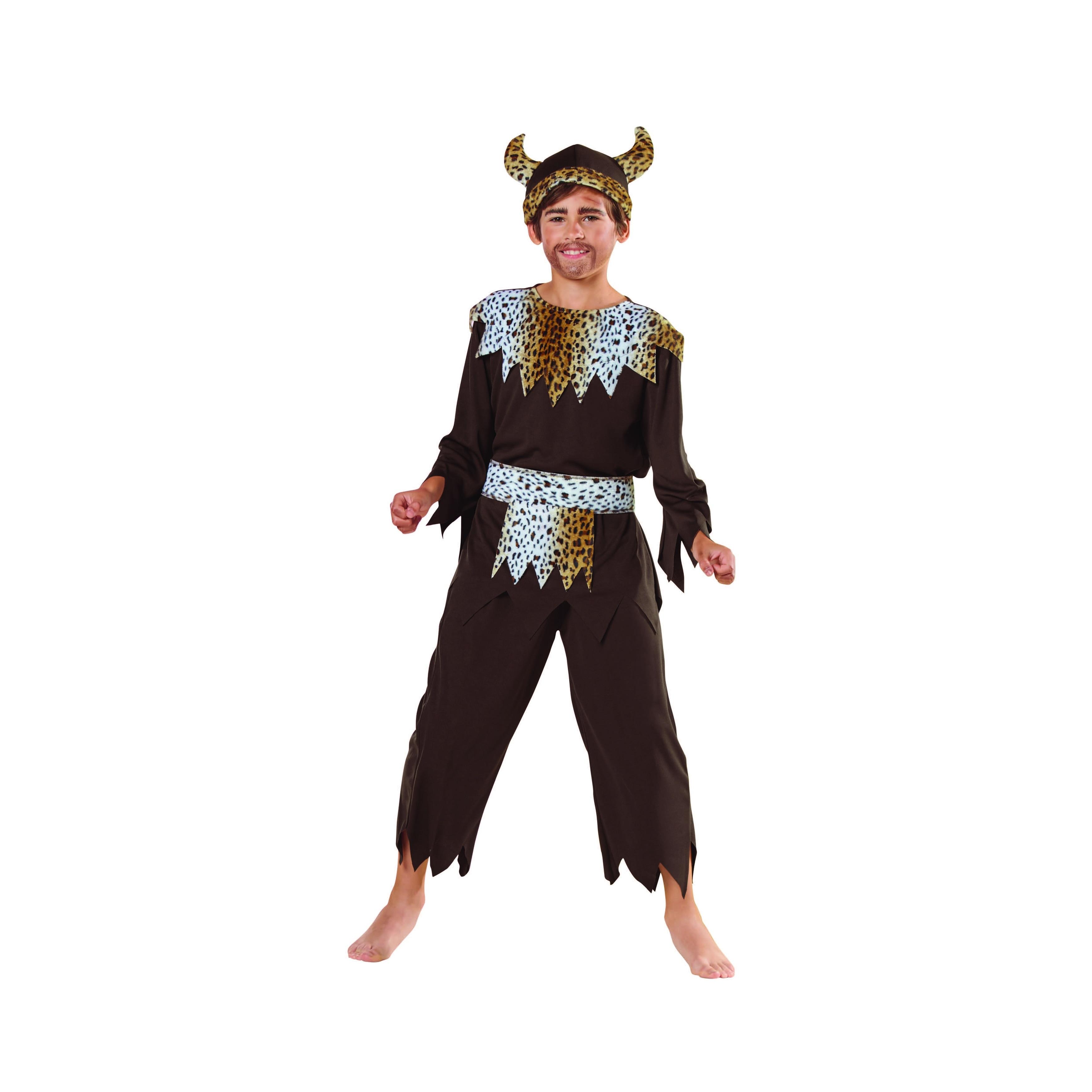 Shop Brown And Black Viking Warrior Caveman Boy Child Halloween Costume Medium On Sale Overstock 29655882