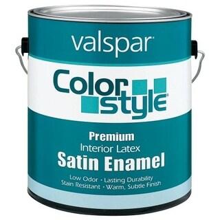Brand 1 Gallon White ColorStyle Interior Latex Satin Enamel Wall