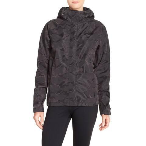 The North Face Women's Novelty Venture Waterproof Jacket, Black Camo, S
