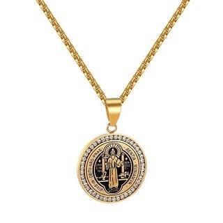 St BenedictiI Benedict Medal Charm Evis Obitv Nro Prae Sentia Mvniamvr Necklace