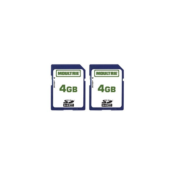 Moultrie MFHP60010 4GB SD Memory Card w/ Write-Protect Switch (2 Pack)