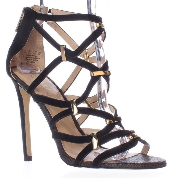 Carlos by Carlos Santana Paulina Caged Dress Sandals, Black