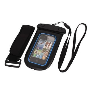 Unique Bargains Waterproof Pouch Bag Holder Blue for iPhone6 w Neck Strap Armband
