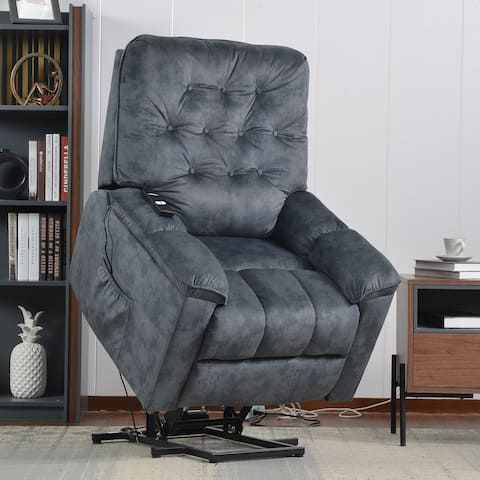 Nestfair Soft Fabric Power Lift Recliner Chair with Remote