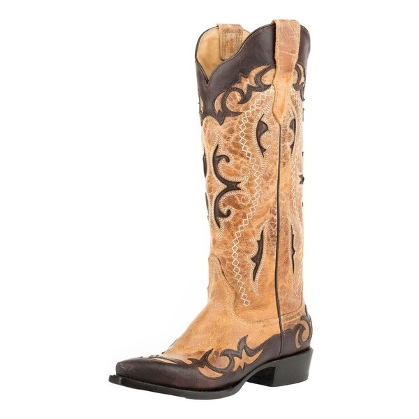 Stetson Western Boots Womens Vivi Snip Brown