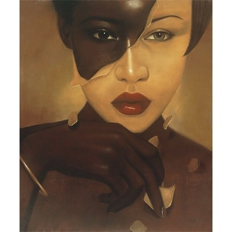 ''The Skin I'm In: Female'' by Laurie Cooper African American Art Print (25.875 x 20 in.)