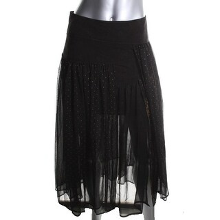 Free People Womens Maxi Skirt Chiffon Pattern - 4