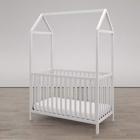 Little Seeds Rowan Valley Skyler 3-in-1 Convertible Crib with Canopy