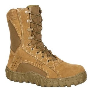 "Rocky Men's S2V 8"" Protective Steel Toe 6104"" Boot Coyote Brown"