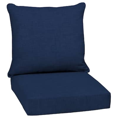 Arden Selections Sapphire Leala Texture Outdoor Deep Seat Cushion Set - 24 W x 24 D in.