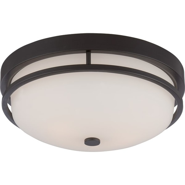 "Nuvo Lighting 60/5586 Neval 2 Light 13"" Wide Flush Mount Bowl Ceiling Fixture"