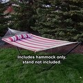 Sunnydaze 2-Person Quilted Hammock with Spreader Bars and Detachable Pillow - Thumbnail 50