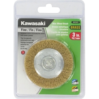 "Kawasaki� 3"" Fine Crimped Brass Wire Wheel Brush - 841522"