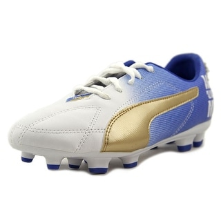 Puma MB 9 FG Jr Youth EW Round Toe Synthetic Blue Cleats