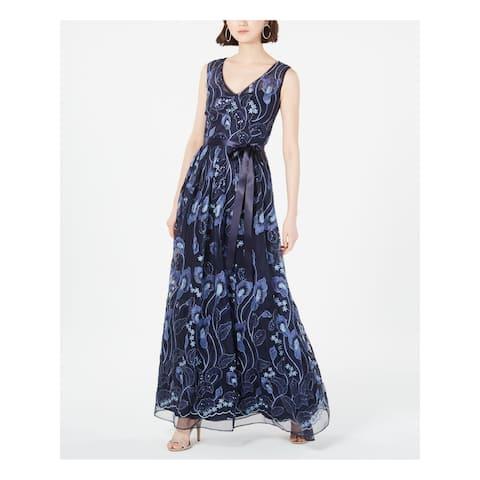 R&M RICHARDS Navy Sleeveless Maxi Dress 14