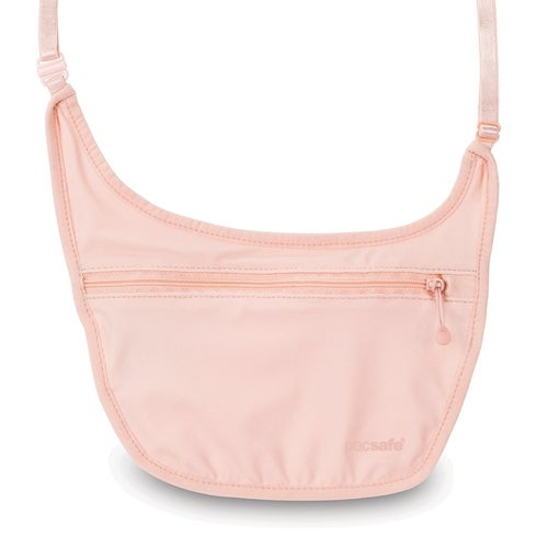 Pacsafe Coversafe S80-Orchid Pink Secret Body Pouch w/Adjustable Elastic Strap