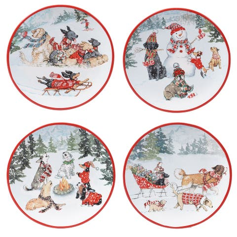 Certified International Special Delivery 9-inch Salad/Dessert Plates (Set of 4)