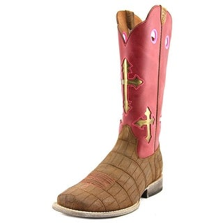 Ariat Ranchero Youth Square Toe Leather Pink Western Boot