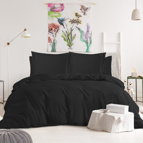 Nestl Bedding 1000TC Cotton Blend 6-Piece Duvet Cover and Sheet Set