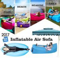"""Kanstar 68"""" Air Lounger Fast Inflatable Bag Air Bed Couch Sofa Portable Waterproof Furniture Pink"""