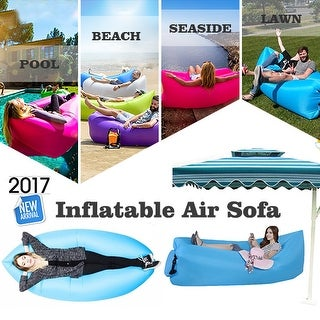 "Kanstar 68"" Air Lounger Fast Inflatable Bag Air Bed Couch Sofa Portable Waterproof Furniture Pink"
