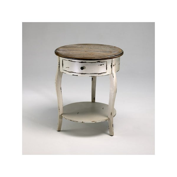 Cyan Design 2469 24 5 Abelard Side Table Distressed White And Gray