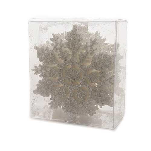 Set of 12 Iridescent Snowflakes