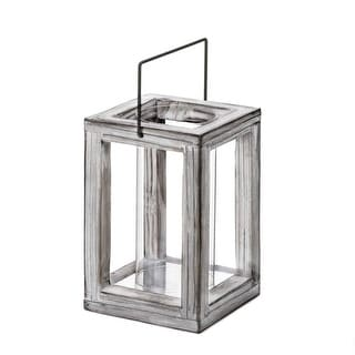 Link to Weathered Wooden Garden Lantern - Silver Similar Items in Decorative Accessories