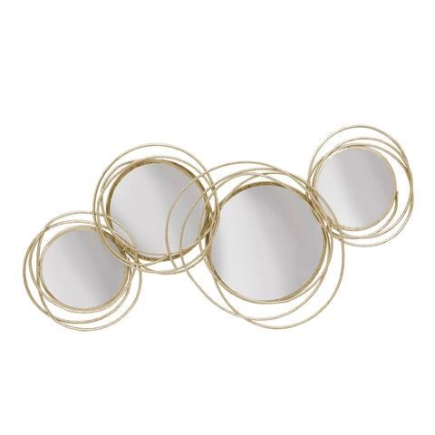 Sagebrook Home 12111 Metal & Glass Wall Mirror, Gold, Window Box Metal, 41 x 2.75 x 19.5 Inches