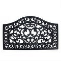 "Decorative Black Scroll Outdoor Rubber Door Mat 29.5"" x 17.75"" - Thumbnail 0"