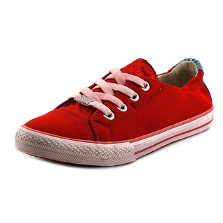 Kim & Zozi Neo Low Women Round Toe Canvas Red Sneakers