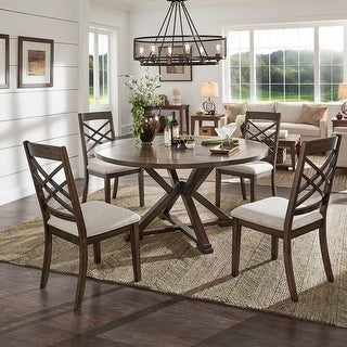 Link to Garrison Espresso Convertible Dining Set by iNSPIRE Q Modern Similar Items in Dining Room & Bar Furniture