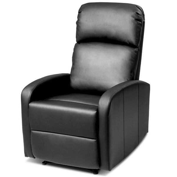 PU Leather Padded Seat Massage Recliner Chair