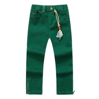 Richie House Baby Girls Green Forest Denim Pants 24M
