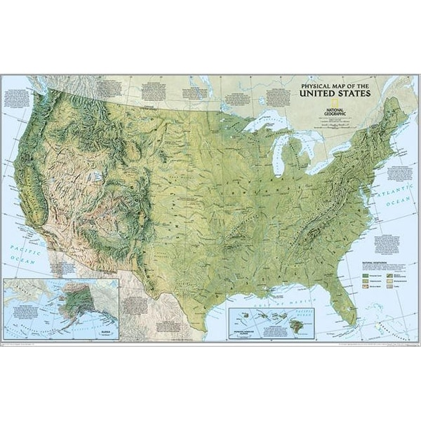 Shop National Geographic RE00620040 United States Physical Map ...