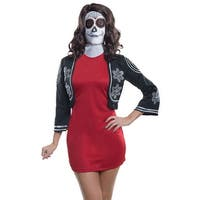 Adult Deluxe Day of the Dead Halloween Mask - one adult size
