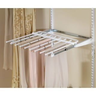 "Rubbermaid FG3J0601  Configurations 16.5"" Wide Titanium Pull Out Pant Rack - White"