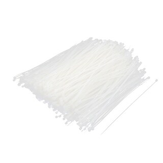 Unique Bargains 685 Pcs 150x2mm Nylon Cable Core Wire Zip Tie Straps Reusable Fasteners White