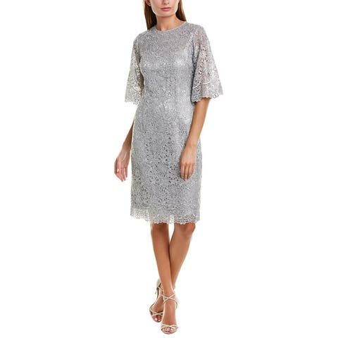 Teri Jon By Rickie Freeman Shift Dress - Silver