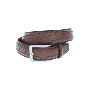 Perry Ellis Mens Dress Belt Leather Brogue