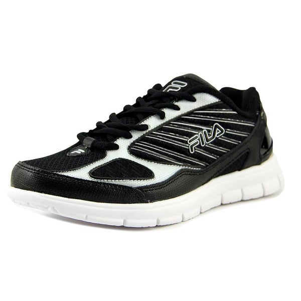 Fila Isotope Men Round Toe Synthetic Black Running Shoe