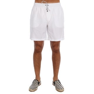 Dolce & Gabbana White Beachwear Shorts - M