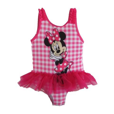 Disney Little Girls White Minnie Mouse Tutu Swimsuit
