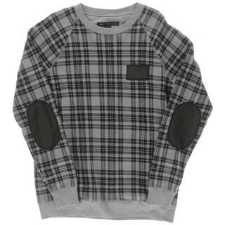 Marc by Marc Jacobs Mens Leather Patch Raglan Sleeves Sweatshirt