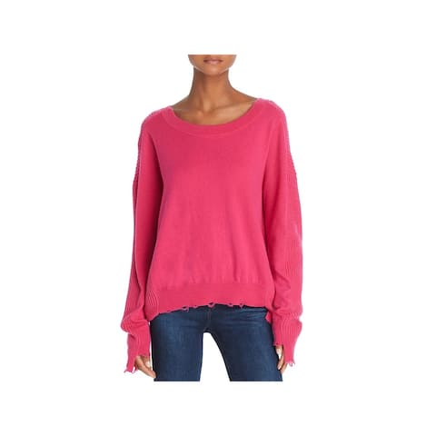 Splendid Womens Lyric Pullover Sweater Destroyed Wool Blend
