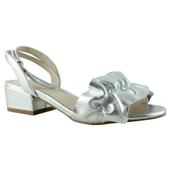 a983e389568 Shop Shellys London Womens Deianirasilver2m Silver Sandals Size 6 ...