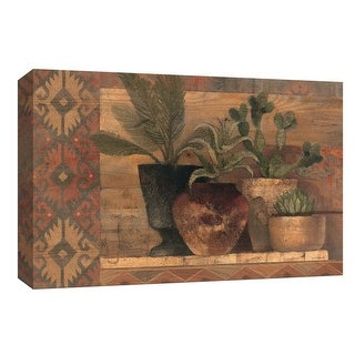 """PTM Images 9-153875  PTM Canvas Collection 8"""" x 10"""" - """"Desert Still Life"""" Giclee Succulents Art Print on Canvas"""