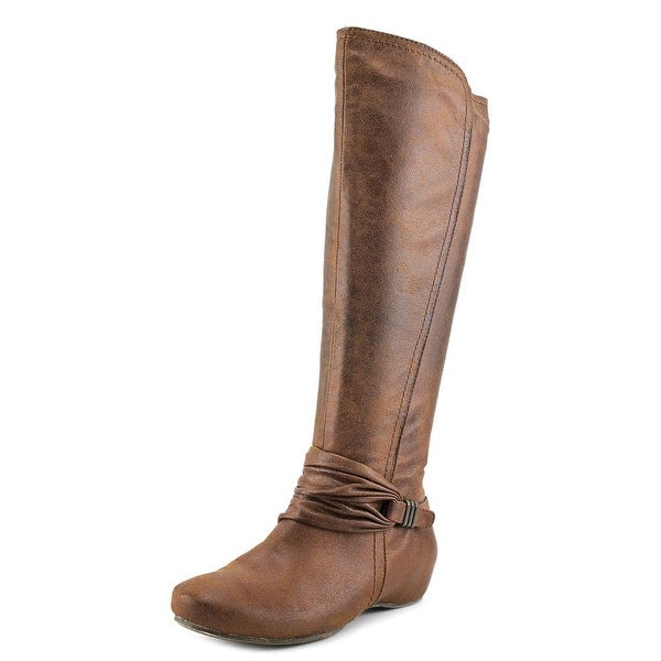 Baretraps Sapphire Round Toe Canvas Knee High Boot